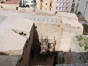 La casamata del baluarte de Sant Pere, desde lo alto