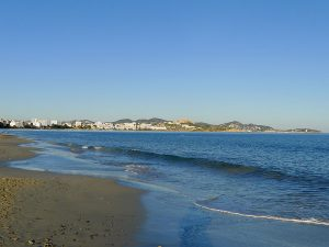 Platja d'en Bossa es el mayor arenal de la isla