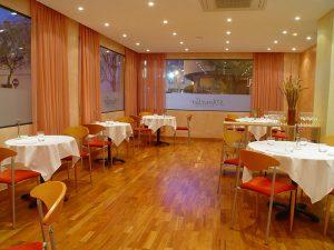 Comedor del restaurante S'Ametller, en el barrio de Es Pratet
